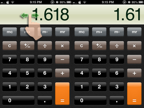 remove accidental extra zeroes in calculator